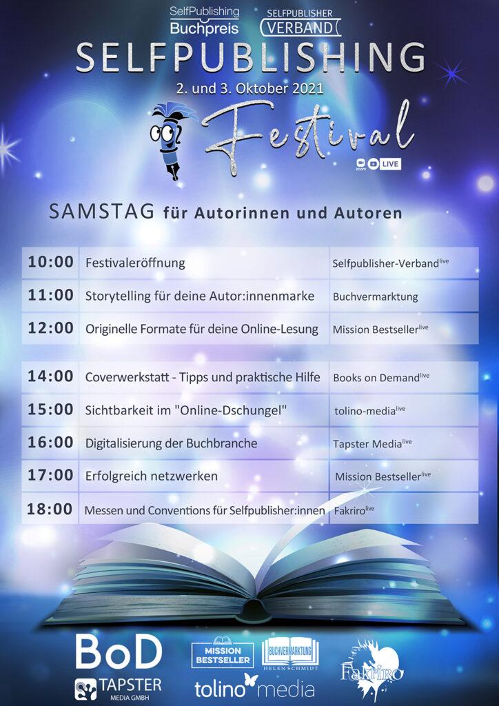 Selfpublishing Festival Programm Samstag
